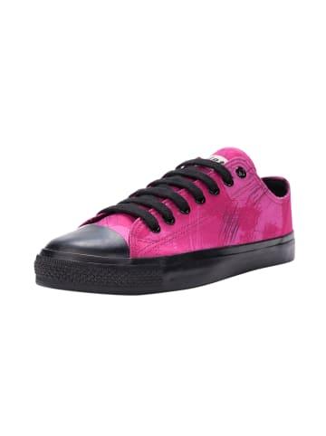 Ethletic Sneaker Lo Fair Trainer Black Cap in dove camo neon beetroot   jet black