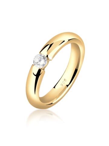 Nenalina Ring 925 Sterling Silber Solitär-Ring, Verlobungsring in Gold