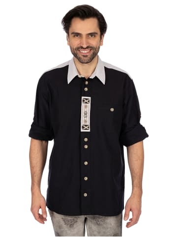OS-Trachten Hemd Langarm BENEDIKT schwarz