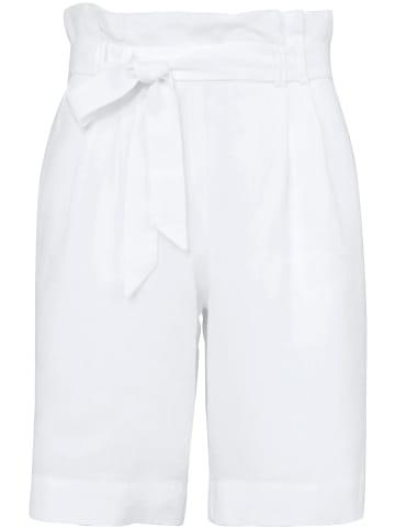 PETER HAHN Bermudas Bermudas aus 100% Leinen in weiß