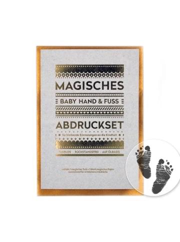 Berlindesign.store Magisches Baby-Abdruckset in Schwarz - (L) 140 x (B) 105 mm