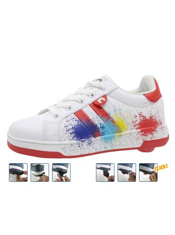 """Breezy Rollers Sneakers mit Rollen """"2180371"""" in Weiß/Rot"""