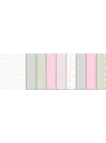 "URSUS Fotokarton ""Frosty Rose"", 300g/m², DIN A4, 9 Blatt sortiert"