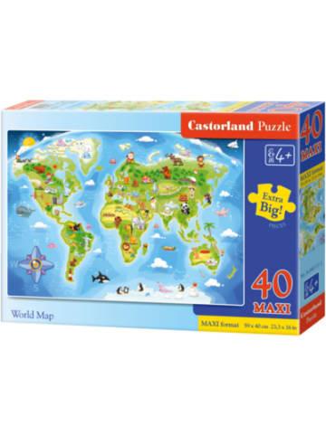 Castorland Bodenpuzzle 40 Teile Maxi - Weltkarte