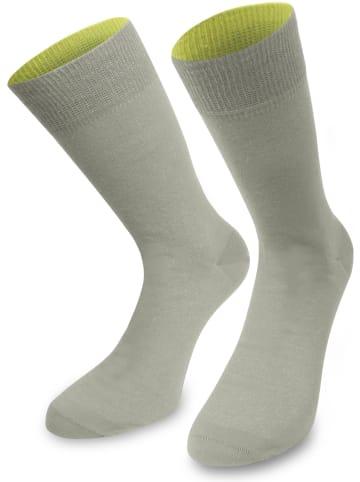Normani 1 Paar Socken Bi-Color in Silber/Säuregelb