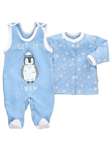 Baby Sweets 2tlg Set Strampler + Shirt Let It Snow in hellblau