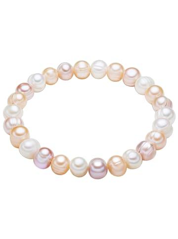 Valero Pearls Perlen-Armband Süßwasser-Zuchtperle in Weiß in weiß
