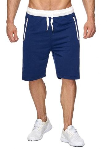 EGOMAXX Sweat Shorts Kurze Jogging Hose Bermuda Sporthose H1927 in Blau