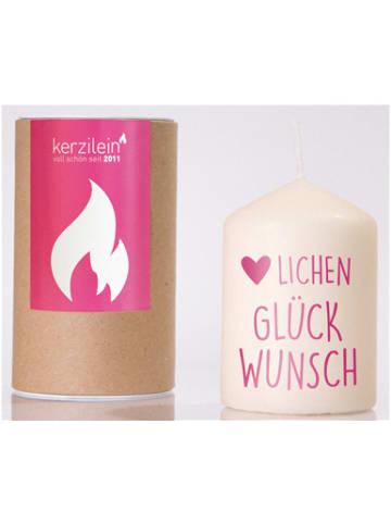 "Kerzilein Kerze ""Herzlichen Glückwunsch"", H8,5 x Ø6 cm"