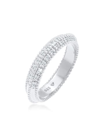 Elli DIAMONDS  Ring 925 Sterling Silber Microsetting, Verlobungsring in Silber