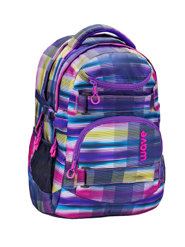 """Wave Rucksack """"Infinity Colorful"""" in lila, H 43 cm B 31 cm T 22 cm"""