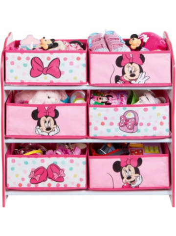 Worldsapart 6-Boxen Regal, Minnie Mouse, rosa/weiß