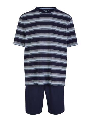 Bexleys man Pyjama in Dunkelblau/Grau