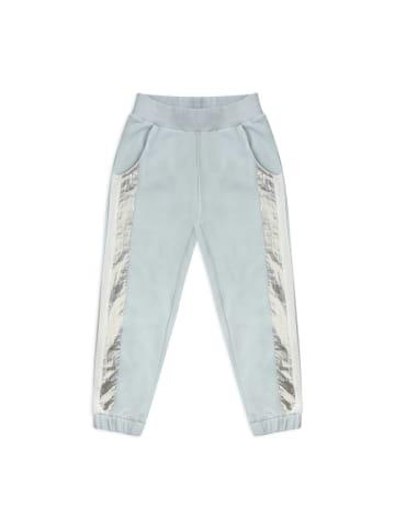 Panco Jogginghose - mit silber Streifen - für Mädchen in Blau