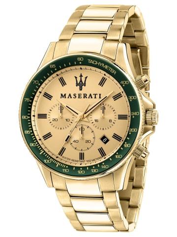 Maserati Herrenuhr Chronograph Sfida Gold