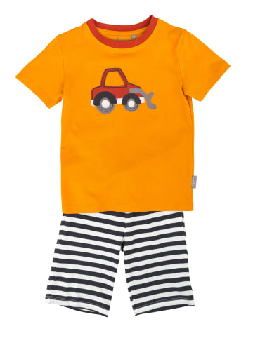 "Sigikid 2tlg. Set: Schlafanzug ""Bagger"" in Orange"