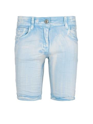 Streetkids Mädchen Hotpants Knitterlook in creamy blue