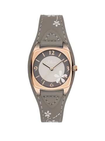 S.Oliver Time Armbanduhr in grau