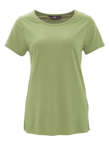 Queen Kerosin Queen Kerosin QUEEN KEROSIN Basic T-Shirt aus Viskose-Mix in olivgrün