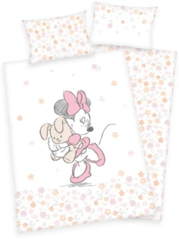 Herding Wende-Kinderbettwäsche Minnie Mouse, Renforcé, 100 x 135 + 40 x 60 cm