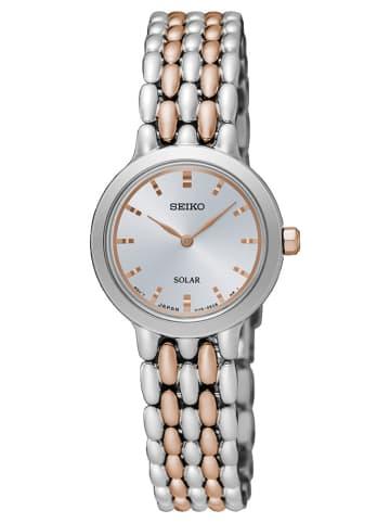Seiko Analog Uhr 'SUP34' in Silber/Mehrfarbig