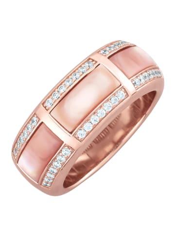 Diemer Perle Damenring in Rosé