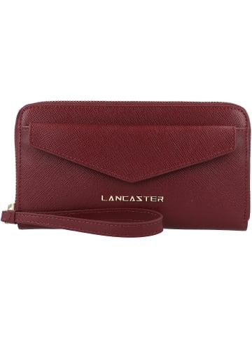 Lancaster Saffiano Signature Geldbörse Leder 19 cm in bordeaux