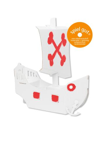 """Bibabox Pappspielzeug """"Das kleine Piratenschiff"""" in Weiß"""