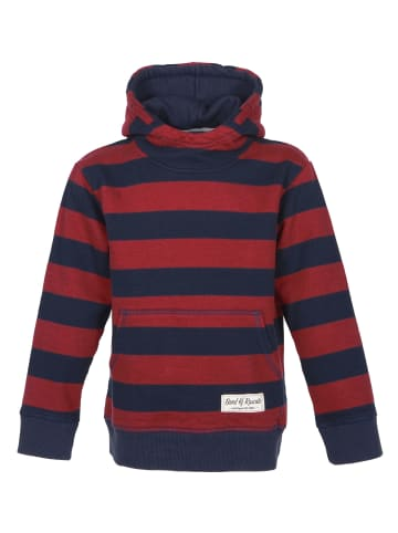 """Band of Rascals Kapuzenpullover """" Striped """" in rot"""