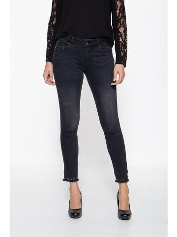 ATT Jeans ATT Jeans ATT JEANS Capri Jeans mit Pailletten Leoni in schwarz