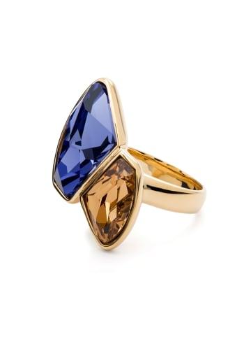 Pippa & Jean Ring Edelstahl verziert mit Kristallen von Swarovski® in Gold in gelbgold