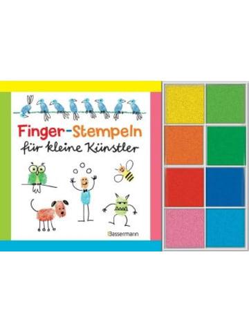 Bassermann Verlag Finger-Stempeln für kleine Künstler, m. 8 Stempelkissen