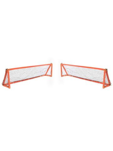 "Gorilla 2tlg. Set: Aufblasbare Fußball-Tore ""iGoal"" in orange - 244 x 60 cm"