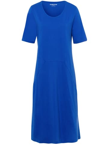 Green Cotton Jerseykleid Jersey-Kleid mit 1/2-Arm in royalblau