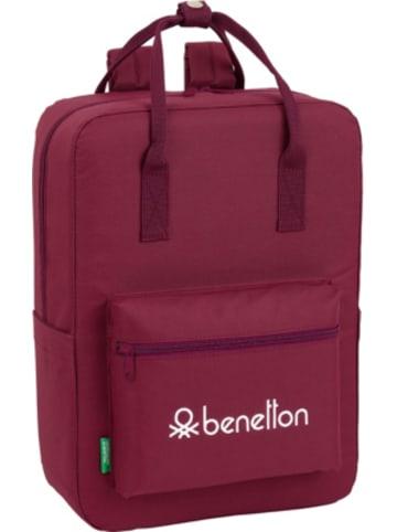 United Colors of Benetton Freizeitrucksack Benetton Basic burgund