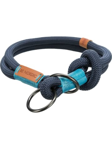 TRIXIE BE NORDIC Zug-Stopp-Halsband S–M: 40 cm/ø 8 mm, dunkelblau/hellblau