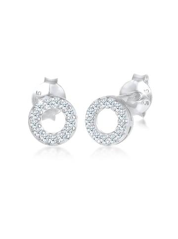 Elli DIAMONDS  Ohrringe 925 Sterling Silber Kreis in Silber