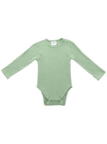 Jollein Baby Langarmbody Rippenstoff, forest green, Gr. 74/80