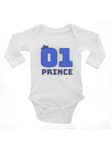 Idil Baby Baby-Body -Prince in Weiss