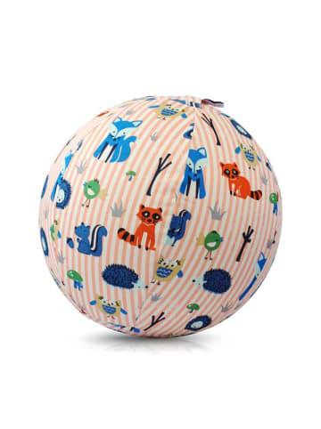 BubaBloon  Textile Ballonhülle, pink-weiß gestreift, mit Tiermotiven