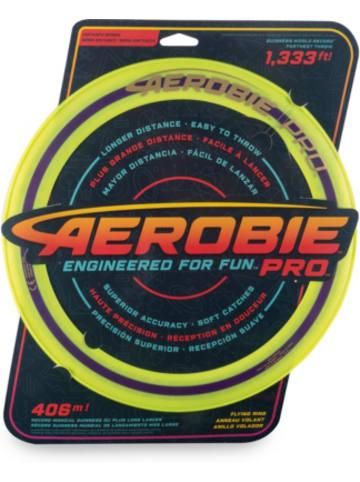 Aerobie Pro Flying Ring Wurfring mit Durchmesser 33 cm, gelb