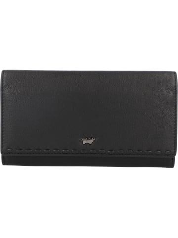 Braun Büffel Soave Geldbörse Leder 17,5 cm in schwarz