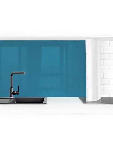 Bilderwelten  Küchenrückwand - Petrol in Petrol
