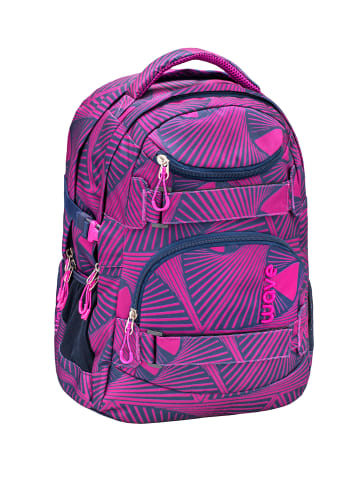 """Wave Rucksack """"Infinity Chaos"""" in pink, H 43 cm B 31 cm T 22 cm"""