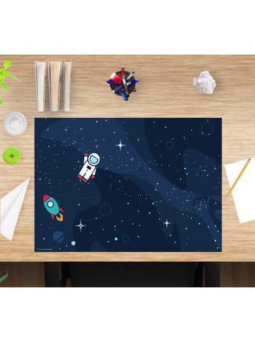 """Cover-your-desk.de  Schreibtischunterlage """"Astronaut im Weltraum Kids"""" (L)60 x (B)40"""