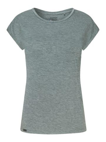 Jockey Schlafanzug Shirt kurzarm Supersoft Lounge in Tin Melange