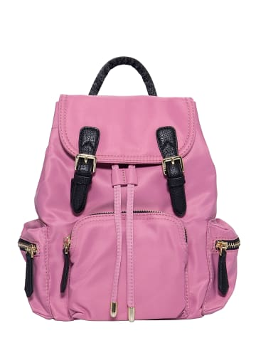 Pyato Pyato PYATO Rucksack mit kontrastierenden Metallelementen in pink