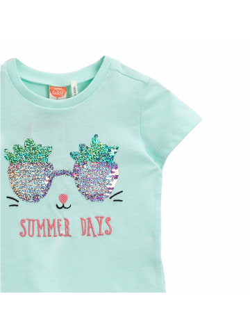 Mamino Kindermode Mädchen T-Shirt -Summer days in mint