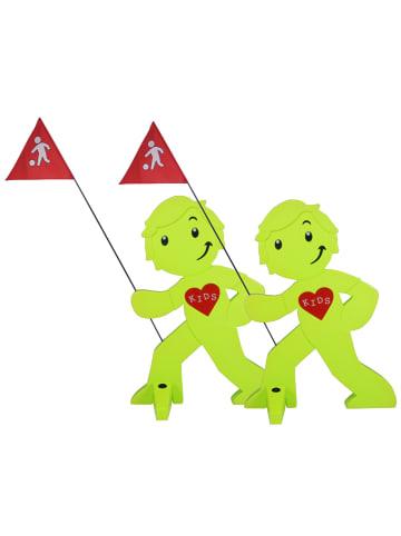 StreetBuddy StreetBuddy Warnfigur für Kindersicherheit in Grün, 2-er Pack