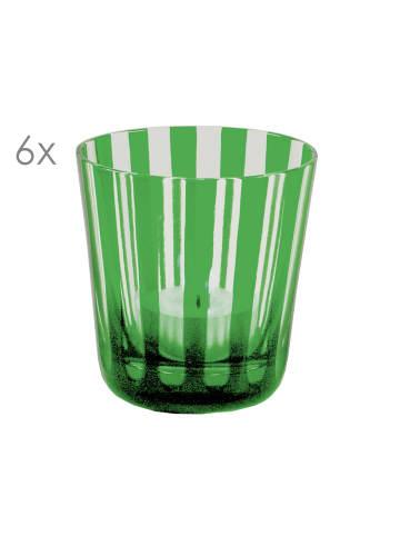 Edzard Gläser-Set Ela in Grün,6er,Set Glas Höhe 8 cm,Ø 8 cm, V 140 ml